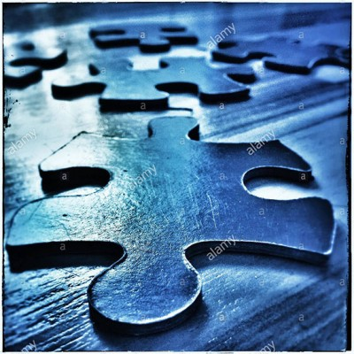 Jigsaw puzzle pieces © Queralt Sunyer