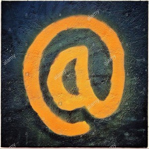 Email at sign stock photography © Queralt Sunyer