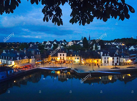 Auray, Brittany, France. Port de Saint Gostan, Gulf of Morbihan stock photography