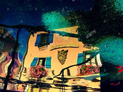 Reflexion of an hotel in Alsace, France © Queralt Sunyer