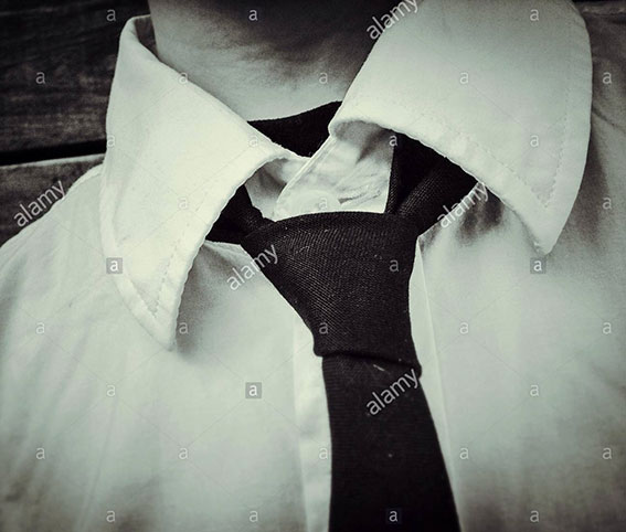 Man with shirt and tie stock photography