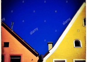 Colorful facades in the city center if Füssen in Allgäu, Bavaria, Germany, Europe © Queralt Sunyer