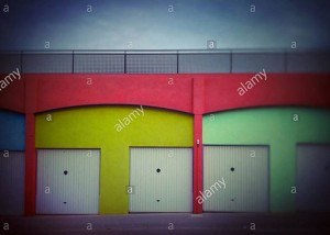 Colourful building with eyes t door. Faces in objects. Palafolls, Catalonia, Spain © Queralt Sunyer