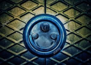Door lock padlock smiling. Faces in objects © Queralt Sunyer